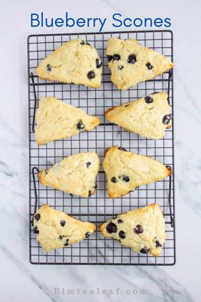 Cooling rack with blueberry scones