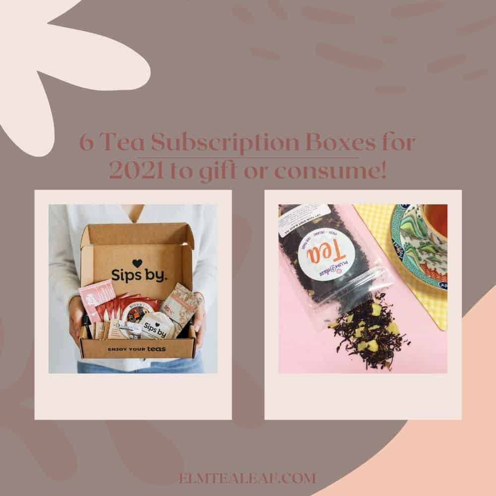 Two images of tea boxes